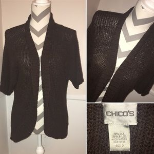 CHICO'S | NWT | silk blend open front cardigan